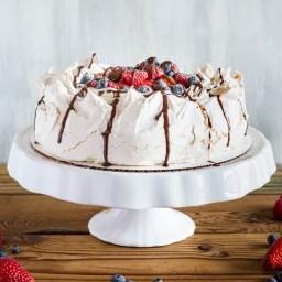 Pavlova with Fresh Whipped Cream Recipe
