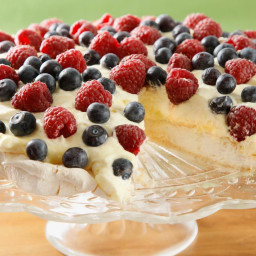 Pavlova with Lemon Curd and Fresh Berries