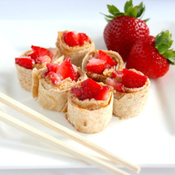 PB and Strawberry Sushi