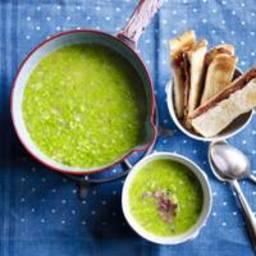Pea and lardon soup(Christmas starter)
