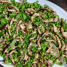 Pea and Mushroom Sauté with Mint