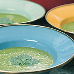 Pea and Spinach Soup with Coconut Milk
