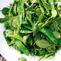 Pea, mint and spinach salad