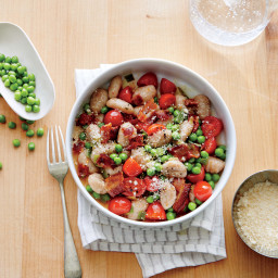 Pea, Tomato, and Bacon Gnocchi