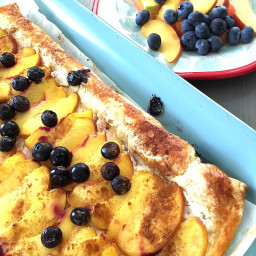 Peach and Berry Puff Pastry Tart