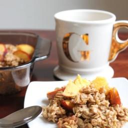 Peach baked oatmeal (vegan)