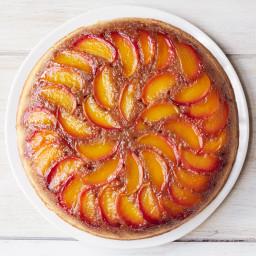 Peach-Bourbon Upside-Down Cake