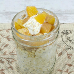 Peach Cobbler Overnight Oatmeal