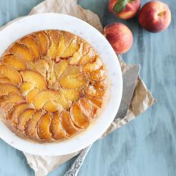 Peach Cornmeal Upside Down Cake