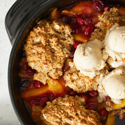 Peach-Cranberry Cobbler