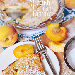 Peach German Pancake