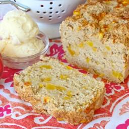 Peach Ice Cream Bread