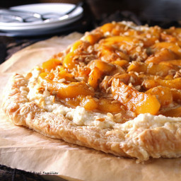 Peach Maple Mascarpone Dessert Pizza #SundaySupper