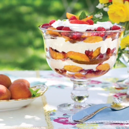 Peach-Melba-and-Sabayon Trifle