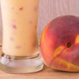 Peach Milk Shake With Soy Milk
