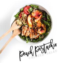 Peach Pistachio Salad