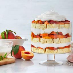 Peach Shortcake Trifle