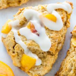 Peach & White Chocolate Chip Scones