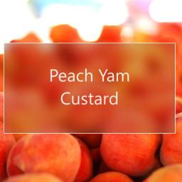 Peach Yam Custard