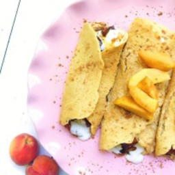 Peaches and Cream Crepes (Gluten/Dairy-Free)