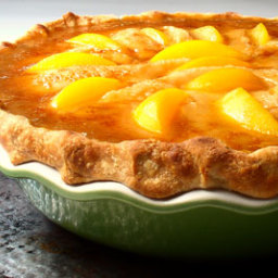 Peaches and cream pie for Peach pie recipe with canned peaches