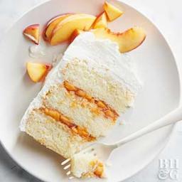 Peaches & Cream Prosecco Cake