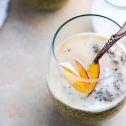 Peaches n' Cream Vegan Chia Pudding Recipe