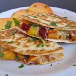 peach quesadillas