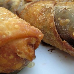 Peanut Butter and Banana Egg Rolls