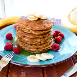 Peanut Butter Banana Flour-less Pancakes