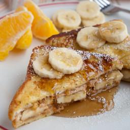 Peanut Butter Banana French Toast