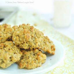 Peanut Butter Chia Oatmeal Breakfast Cookies (Gluten free, refined sugar fr
