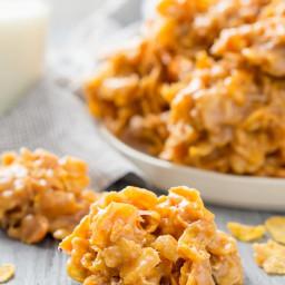 Peanut Butter Cornflake Cookies