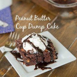 Peanut Butter Cup Dump Cake