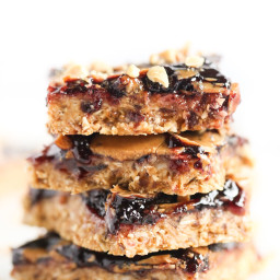 Peanut Butter + Jelly Snack Bars