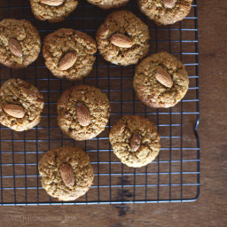 Peanut Butter Maple Almond Cookies