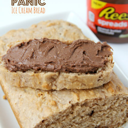 Peanut Butter Panic Ice Cream Bread