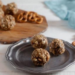 Peanut Butter, Pretzel, and Chocolate Chip Energy Bites