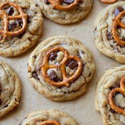 Peanut Butter Pretzel Chocolate Chunk Cookies