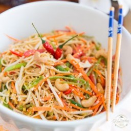 Peanut Butter Sesame Asian Noodle Salad