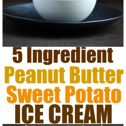 Peanut Butter Sweet Potato Ice Cream