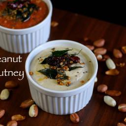 peanut chutney recipe | groundnut chutney recipe | shenga chutney
