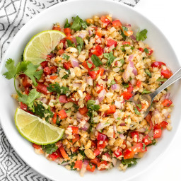 Peanut Lime Cauliflower Salad