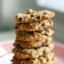 Peanut Butter Chocolate Chip Cookies - Vegan and Gluten Free