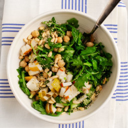 Pear and Arugula Chickpea Salad
