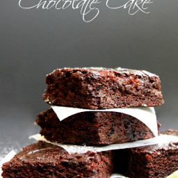 Pear and Zucchini Chocolate Cake