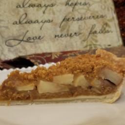 Pear Apple Crumble Pie