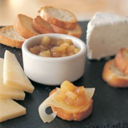 Pear Compote with Cheeses