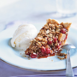 Pear-Cranberry Pie with Oatmeal Streusel