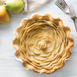 Pear, Honey, and Lime Pie